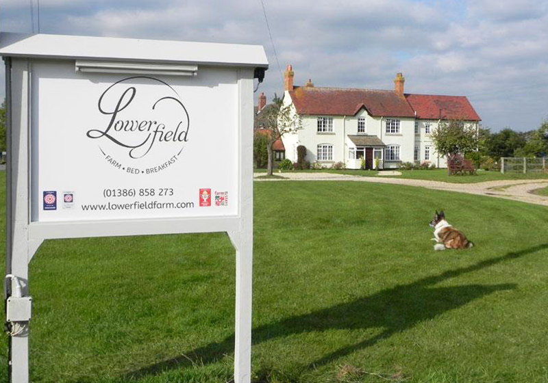 Signage for Lowerfield Farm